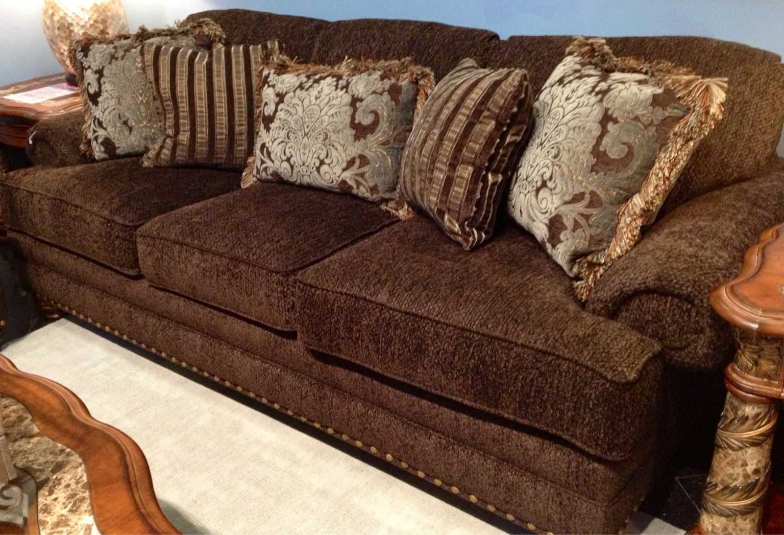 Our Rollins Mink Brown Sofa Group Is