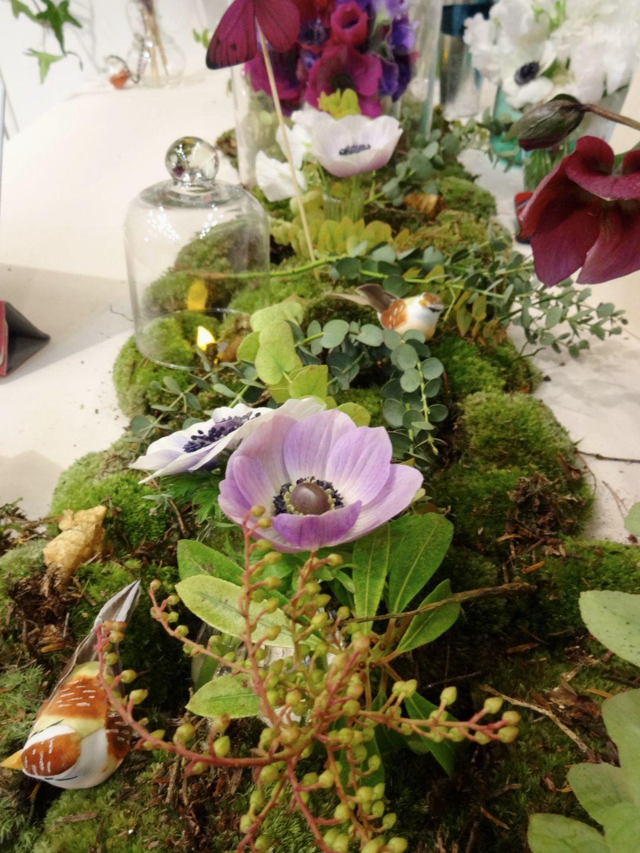 Au salon du mariage mousse and centerpieces - Mousse decoration ...