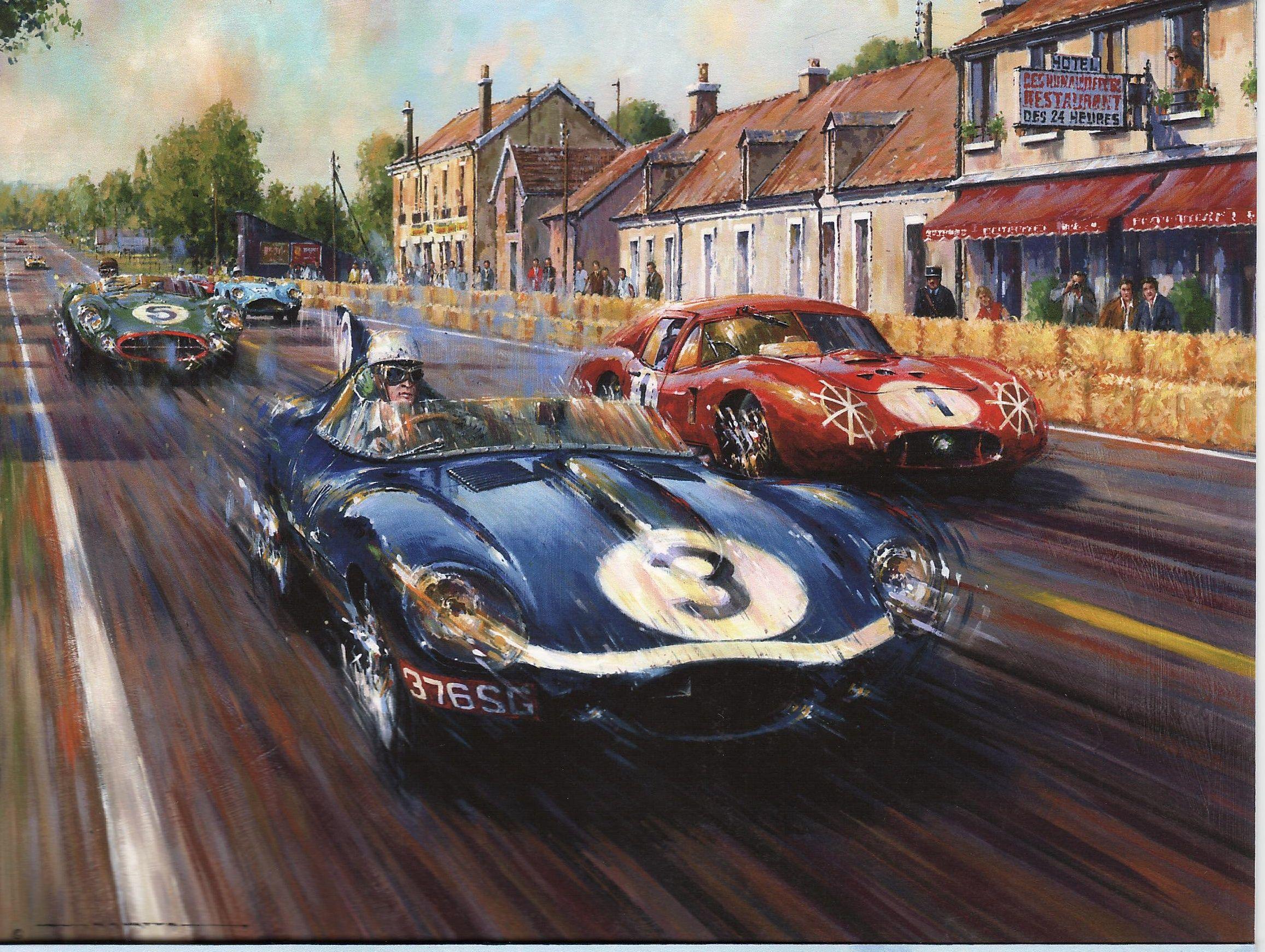 D Type Auto Racing Art Motorsport Art Racing Art