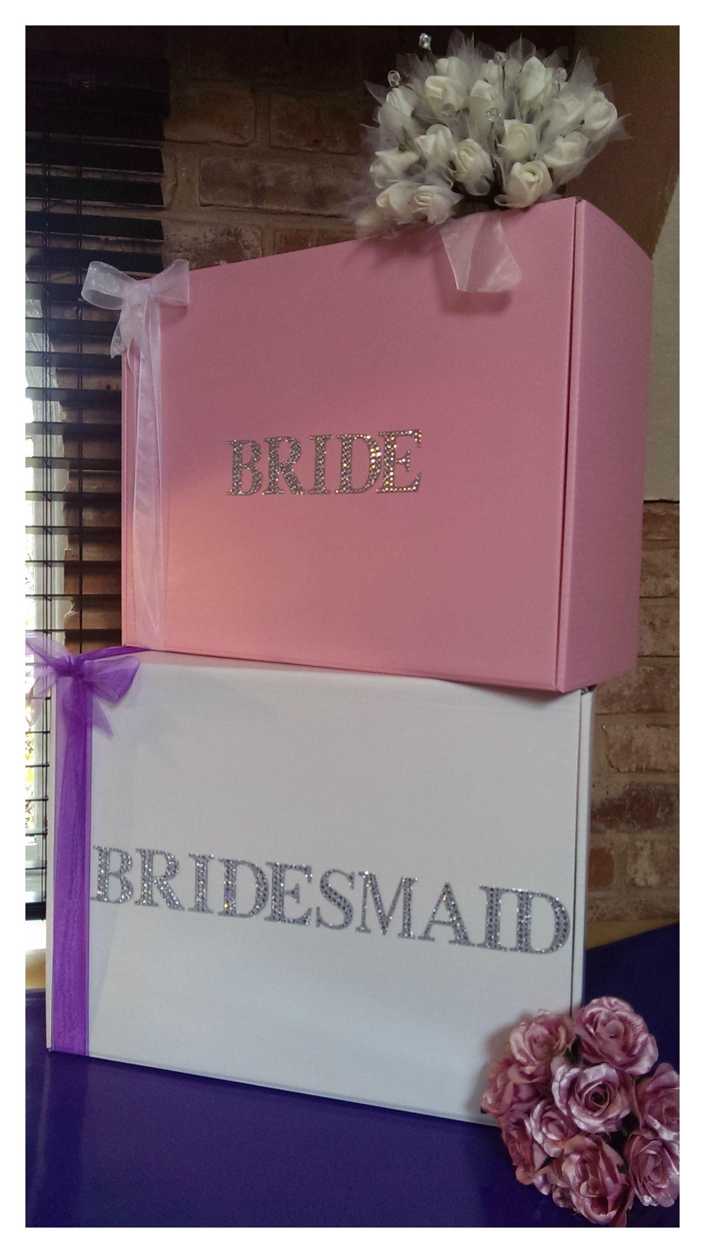Fabulous diamante bride wedding dress travel box from