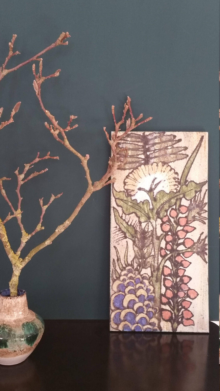 Wandfliese Keramikkunst Keramikuntersetzer Kinderzimmerdeko Küche ...