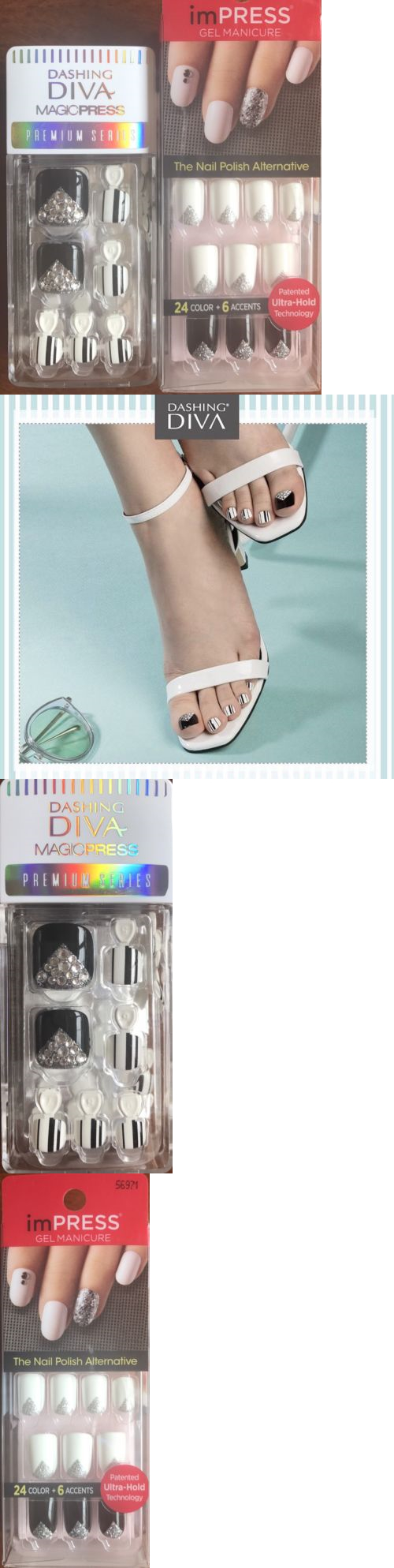 Press-On Nails: Dashing Diva Press On Nails Toe And Kiss Impress ...