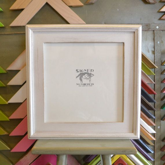 10x10 Inch Square Picture Frame In Double Cove Build Up Style And Color Of Your Choice On Etsy 37 25 Picture Frames Frame Up Styles