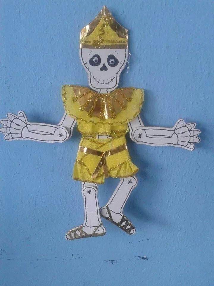 Calaverita Vestida Calavera De Papel Esqueleto Para Armar Catrinas Vestidas