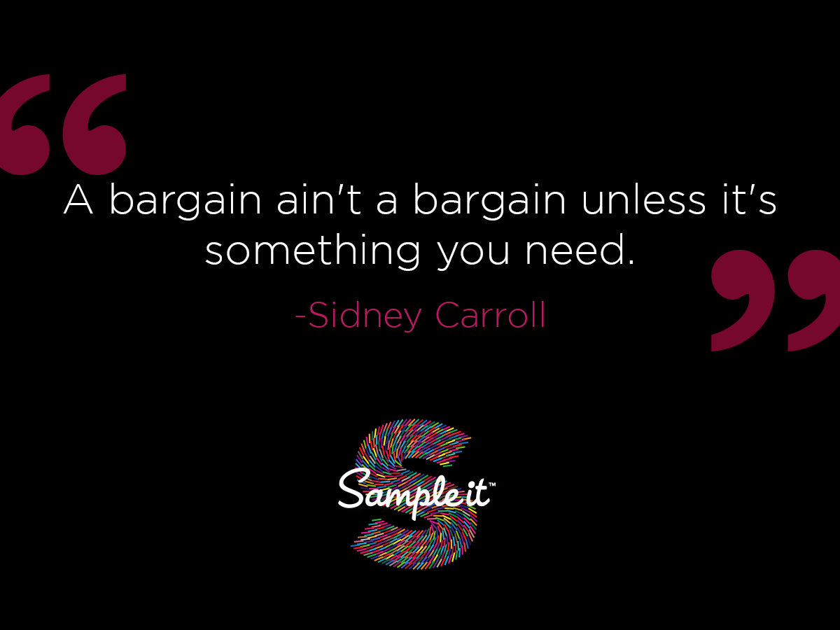 And that's why you try it before you buy it with SAMPLEit! #savings #bargains