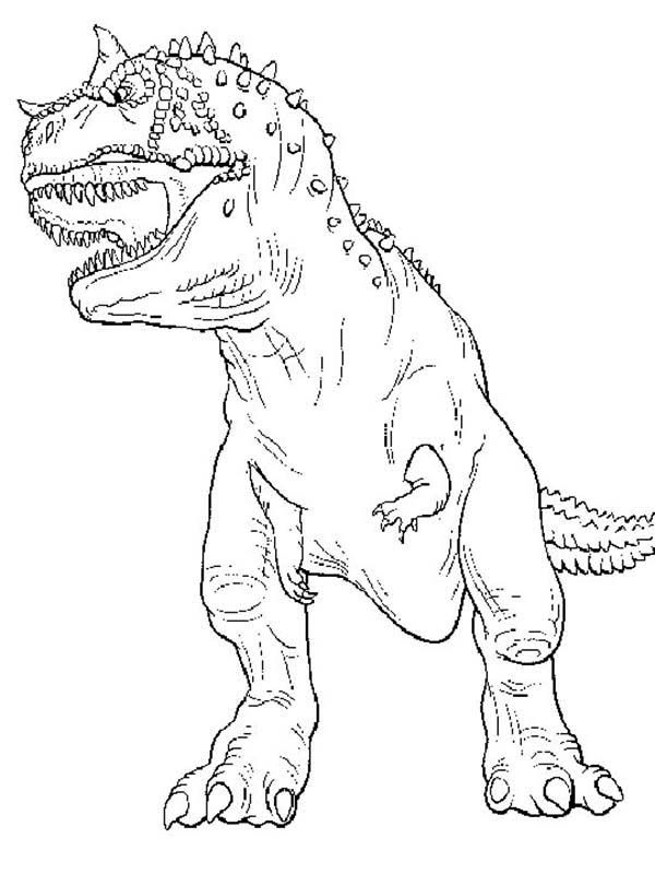 T rex the legendary t rex coloring page