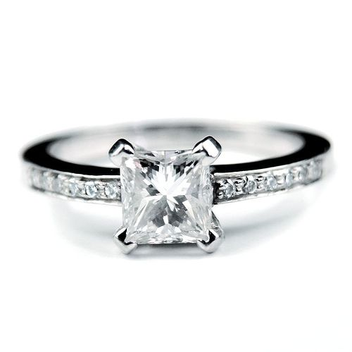asscher square cut diamond engagement ring - Wedding Ring Cuts