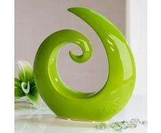Moderna y hermosa Escultura de cerámica verde Altura 18 cm Ancho 18,5 cm