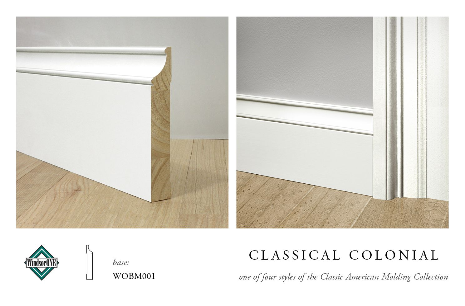 Windsorone classical colonial base wobm001 part of the for Colonial trim molding