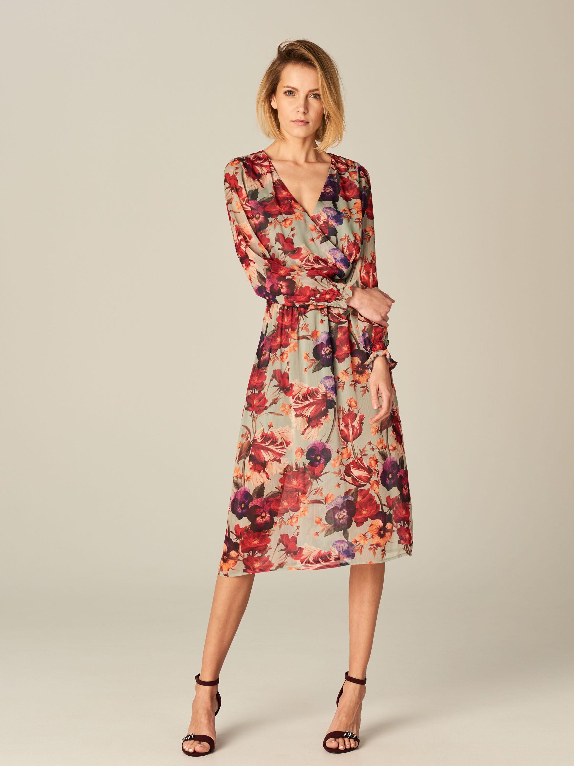 Zwiewna Sukienka W Kwiaty Flower Story Wielobarwn Mohito Dresses Fashion Clothes
