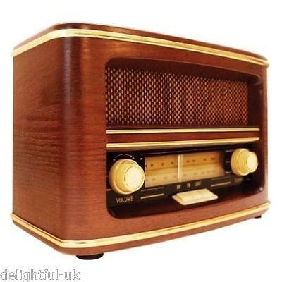 Gpo Winchester Retro Old Fashioned Vintage Style 1950s Mw Fm Radio In Wood Case Retro Radios Vintage Radio Radio