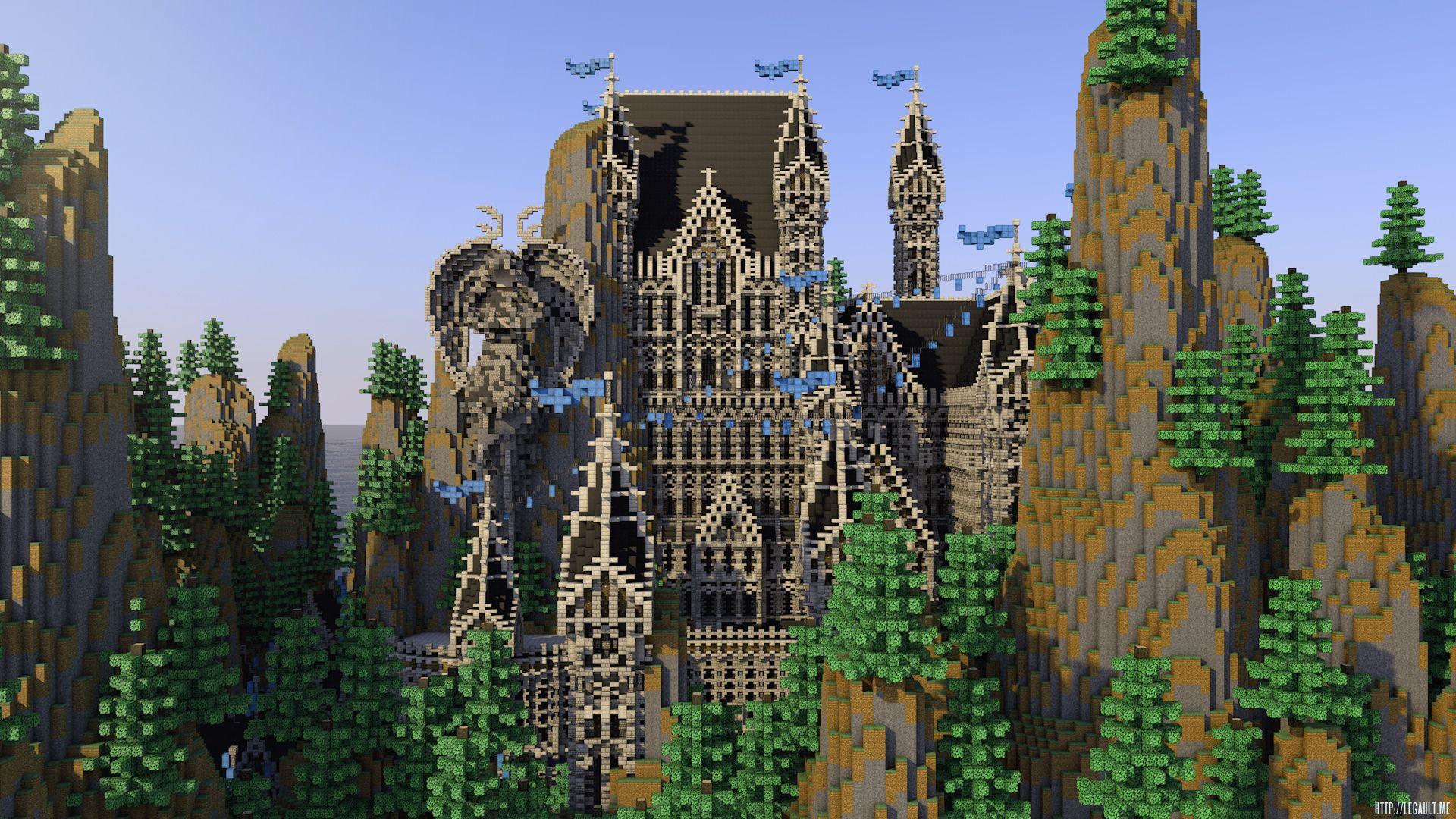 Minecraft Castle Render Mathieu Legault Cinema 4d