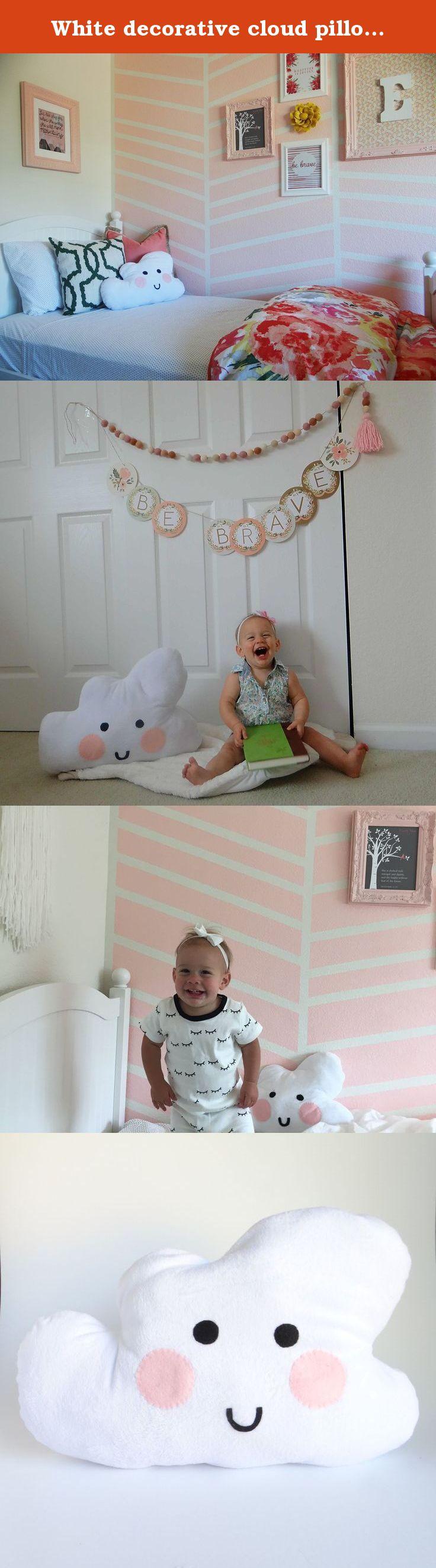 Crib pillows babies - White Decorative Cloud Pillow With Smiley Face Nursery Decor Crib Bedding Baby Shower Gift Throw Pillow