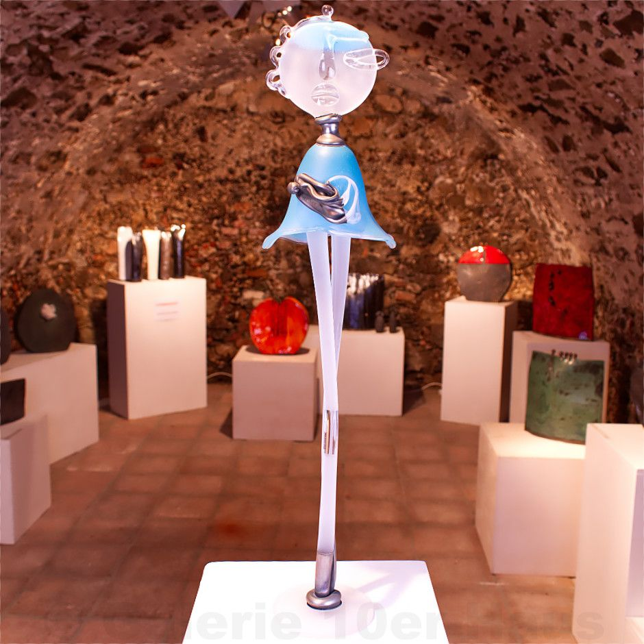 Skulptur Ladyblue Skulpturen Dekoration