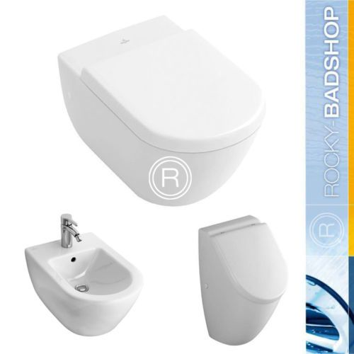 villeroy boch subway 2 0 wand wc wc sitz bidet urinal im set 5614r001 ebay 674. Black Bedroom Furniture Sets. Home Design Ideas
