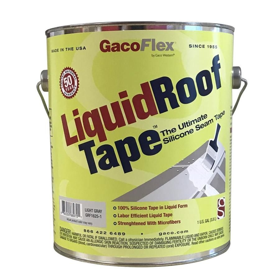 Gaco Liquidrooftape 1 Gallon Silicone Reflective Roof Coating 50 Year Limited Warranty Gacltape1 In 2020 Roof Coating Liquid Roof Silicone Tape