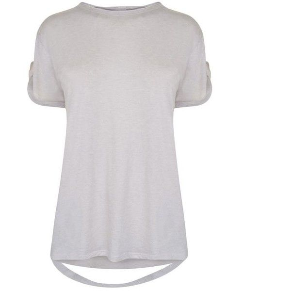 Helmut Lang Hanging Strap T Shirt (340 BRL) ❤ liked on Polyvore featuring tops, t-shirts, white melange, crew neck t shirt, oversized t shirt, crewneck tee, short sleeve t shirt and white cotton tee