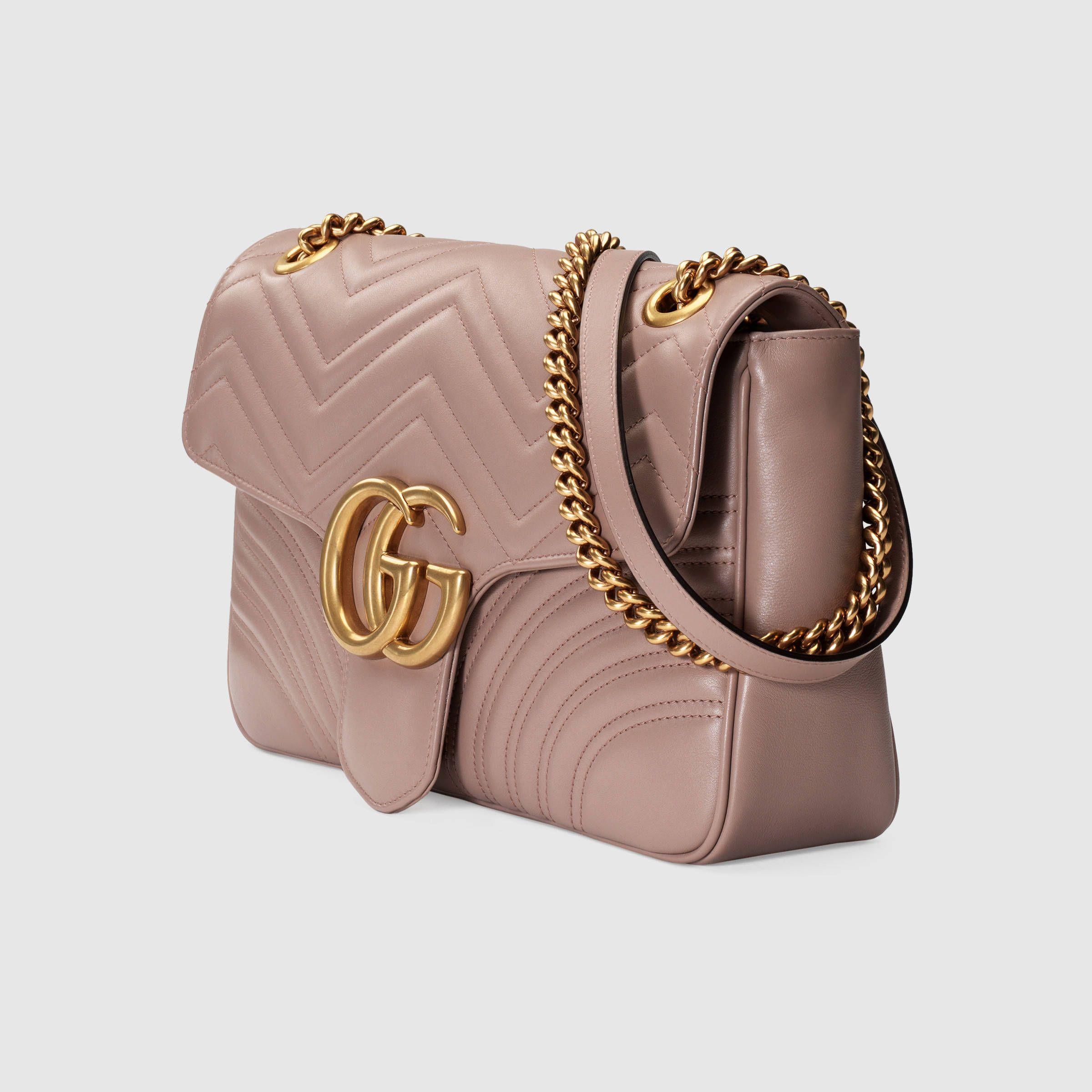 4abe252e8f3496 GG Marmont medium matelassé shoulder bag | Handbags | Bags, Chain ...