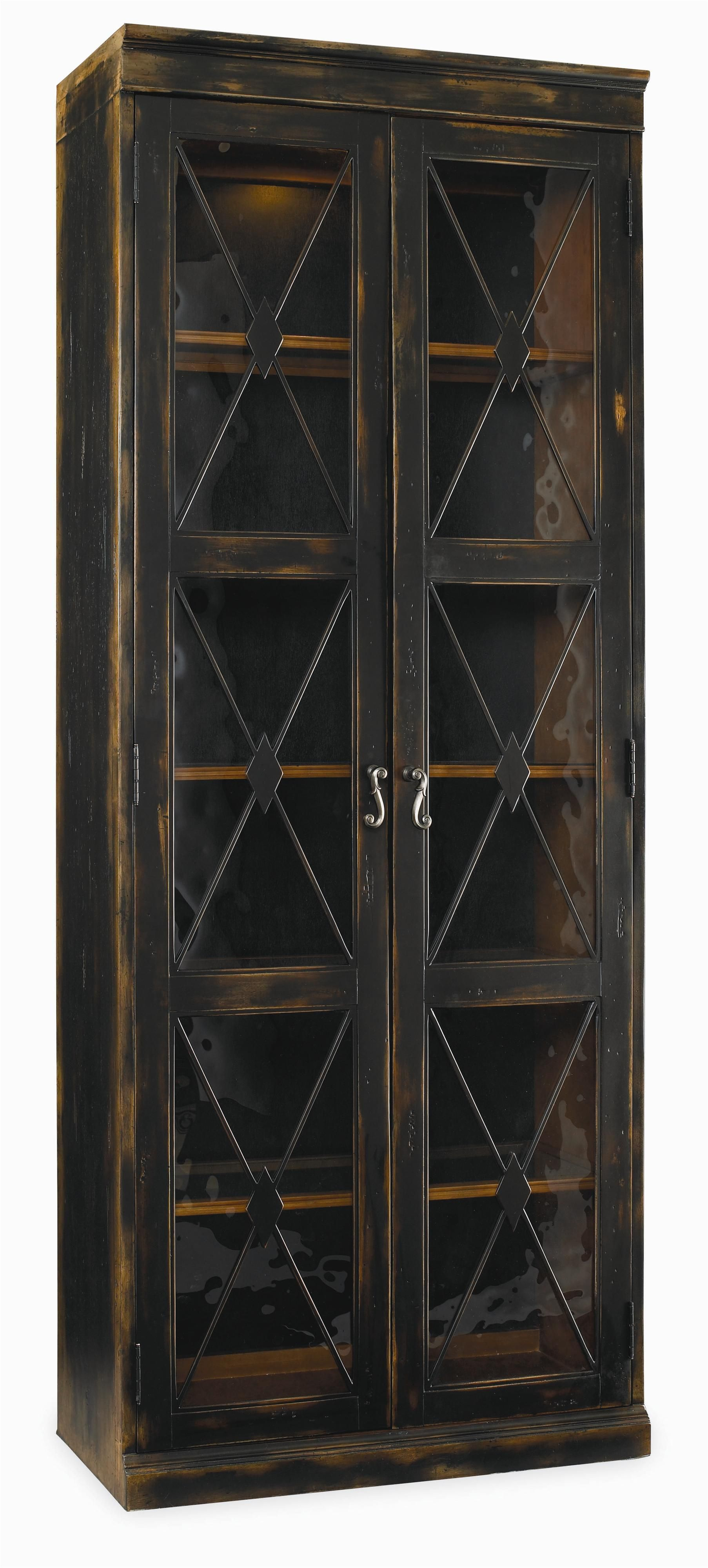 Sanctuary Two Door Thin Display Cabinet by Hooker Furniture ...