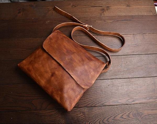 Leather Messenger Bag, School Bag,Leather Shoulder Briefcase JZ005 – Leajanebag