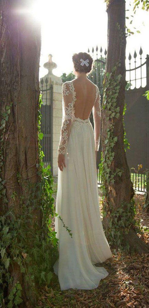 15 vestidos de novia con escote en la espalda que parecen sacados de