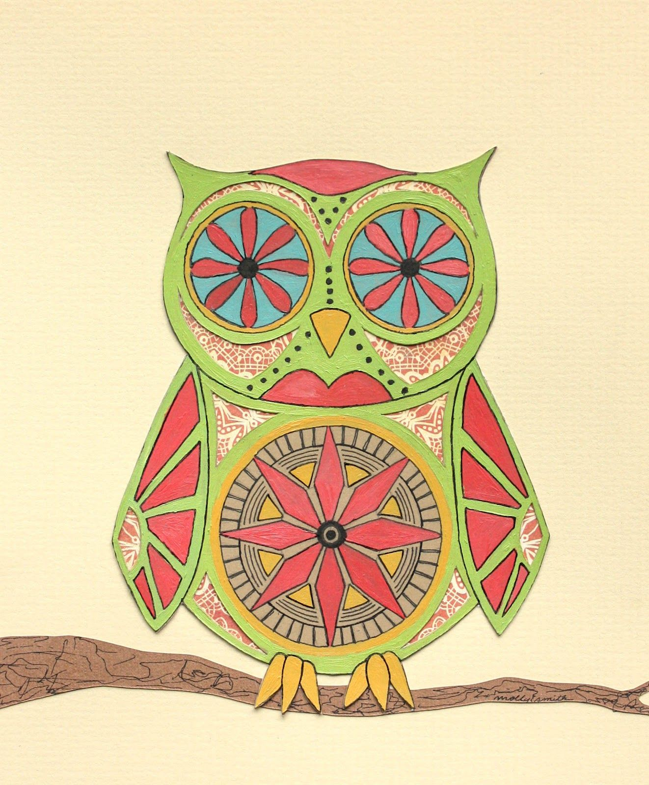 Owl Sugar Skull Drawing - photo#32