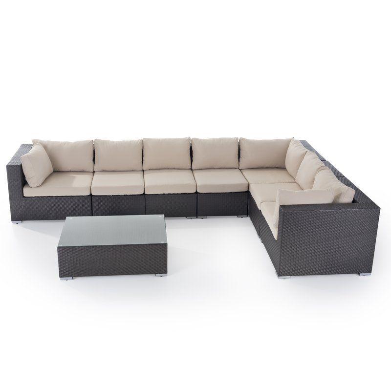 7 Seater Rattan Effect Corner Sofa Set Corner Sofa Set Rattan