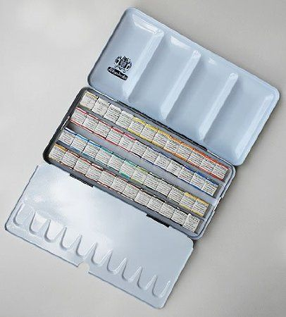 Amazon Com Schmincke Watercolors 48 Half Pans In A Metal Box