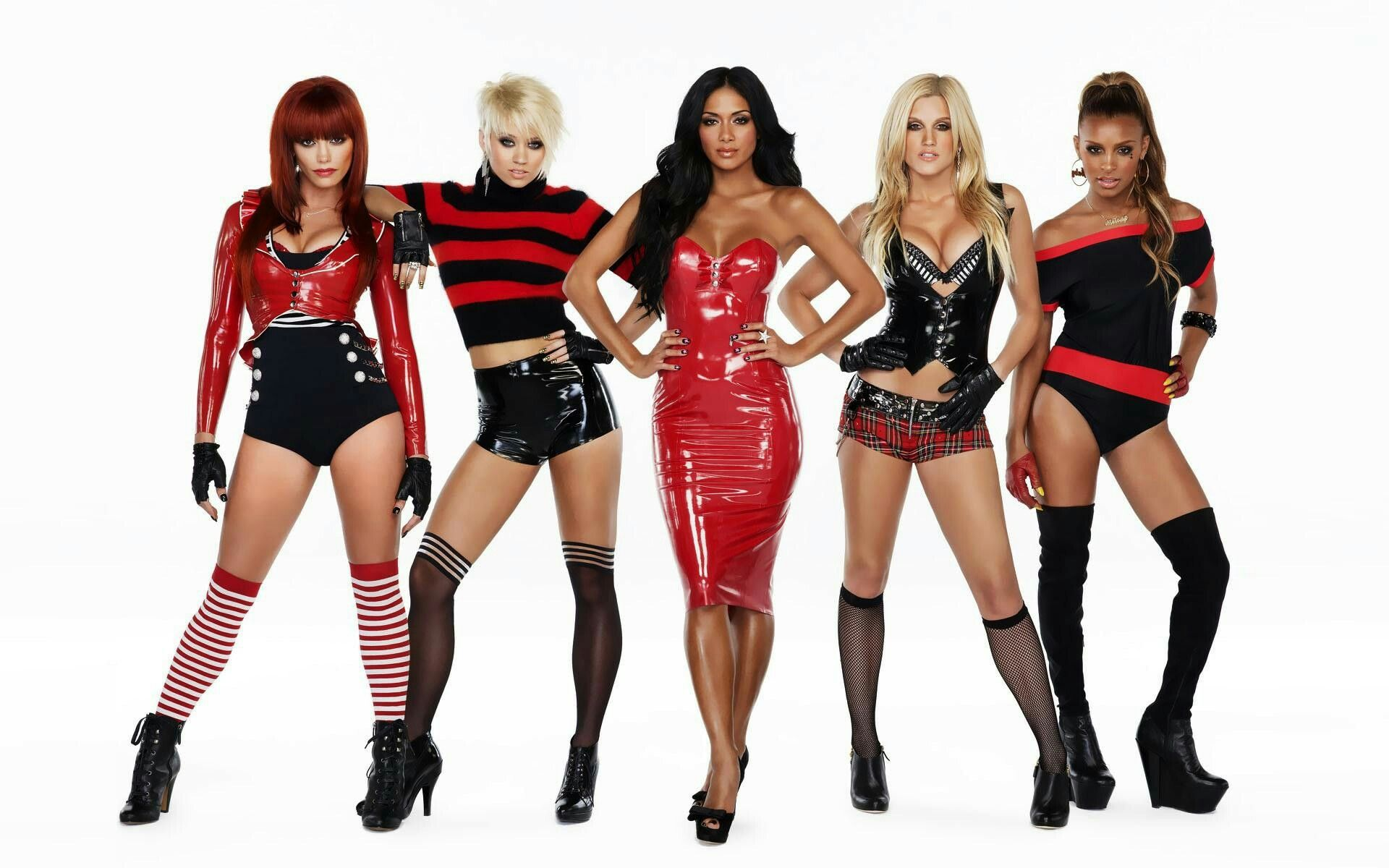 The Pussycat Dolls in latex