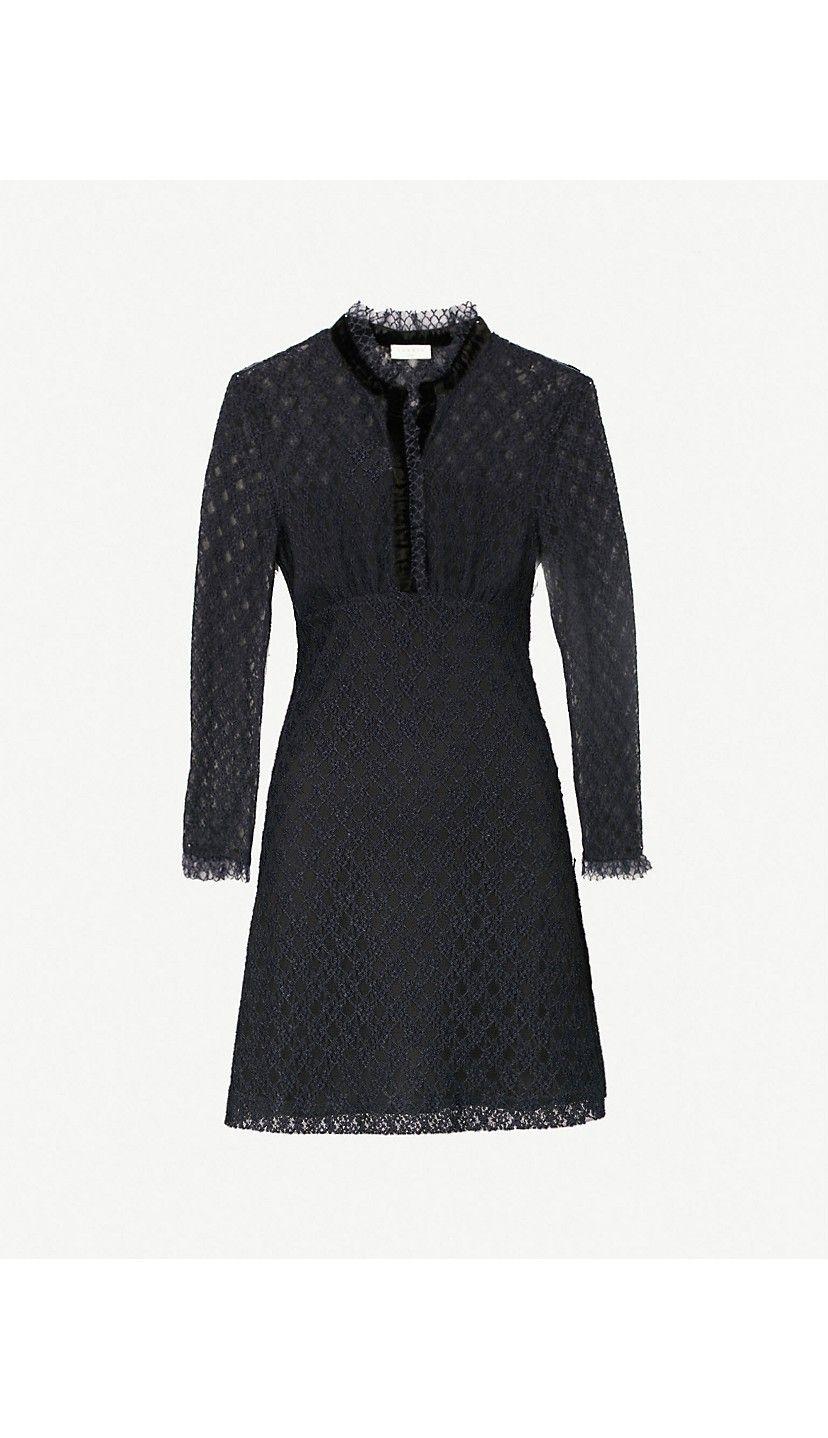 Sandro Velvet Trim Lace Dress Christmas Ideas In 2019