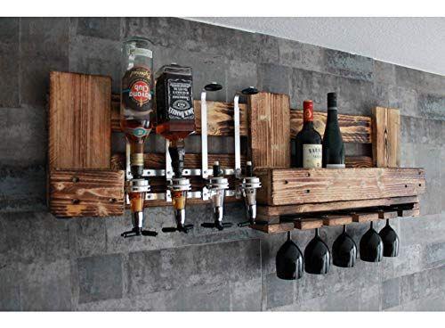 Rustikale Wandbar Mit 4cl Dosierspender Für Cocktails