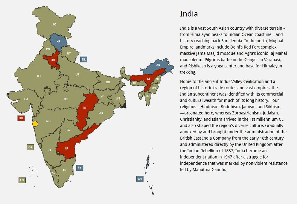 Free responsive html5 india map aa pinterest india map india free responsive html5 india map gumiabroncs Image collections
