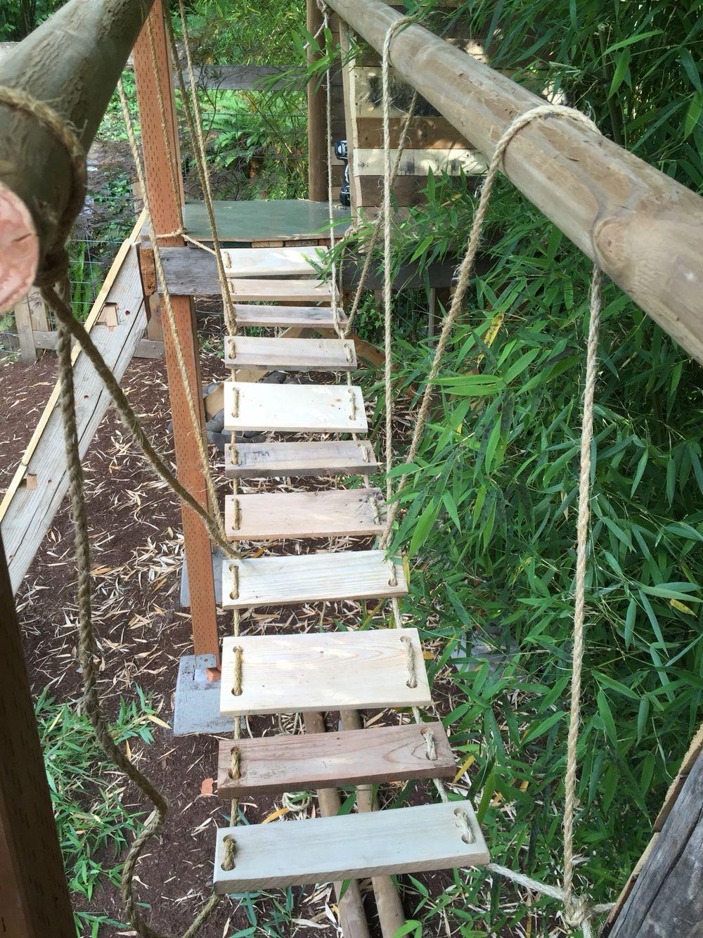 pallet rope bridge zahrada da ti pinterest rope bridge pallets
