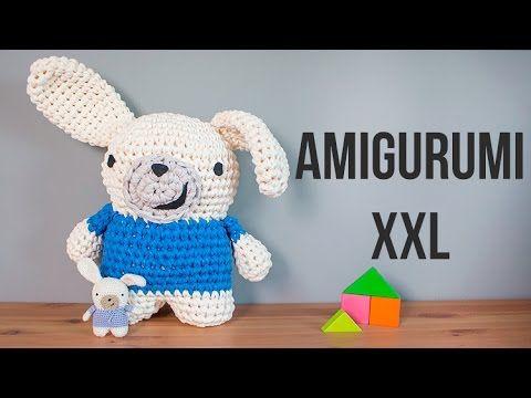 Tutorial Amigurumi Cerdito : Conejo amigurumi xxl de trapillo youtube amiguri