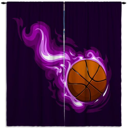 Basketball Curtains, Curtains for Girls Room, Girls Bedroom Curtains, Sports Curtains for Kids, Purple Sports Window Curtains 200 is part of Girls bedroom Curtains - EloquentInnovations ref si shop