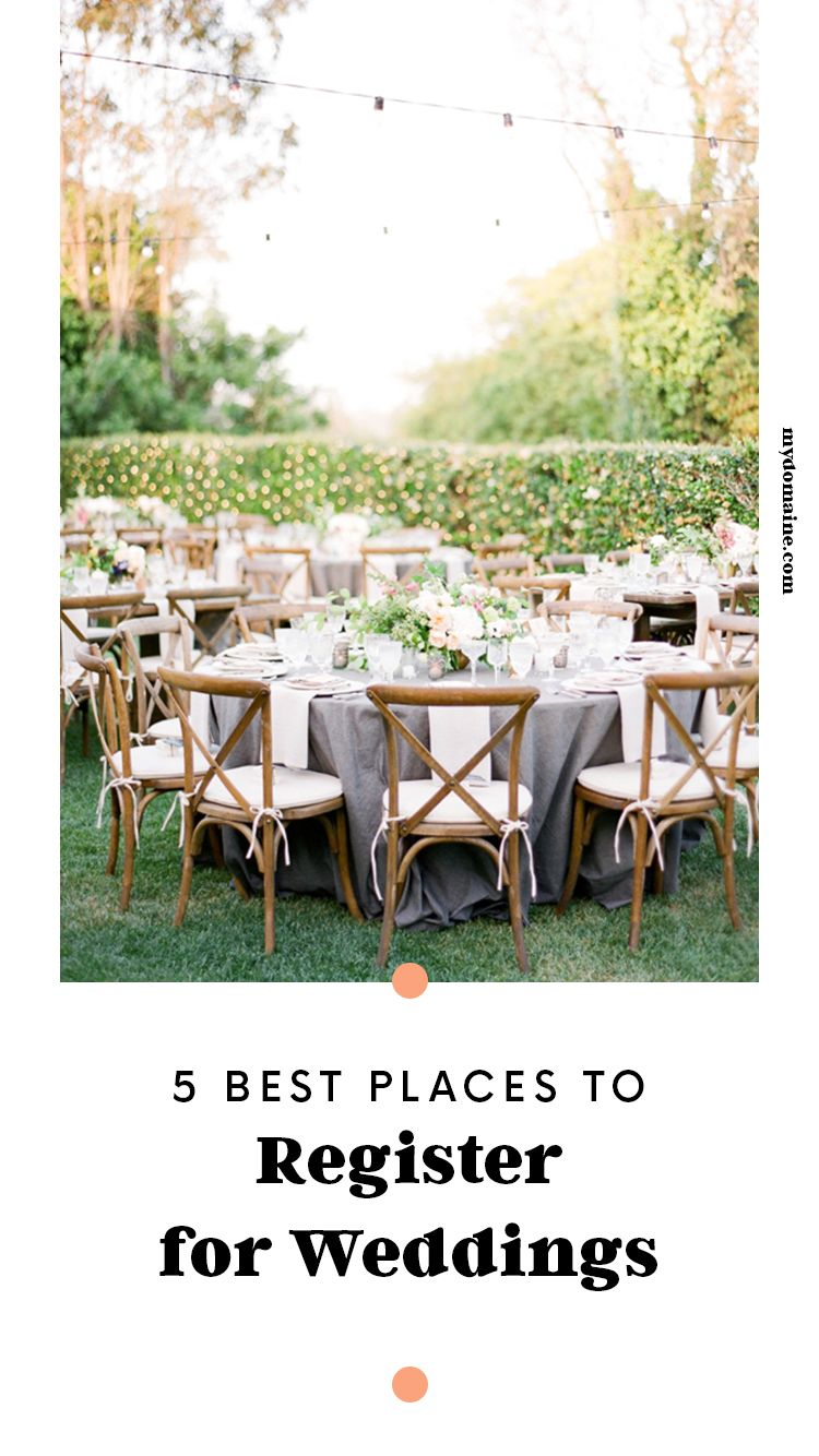 Found the 5 best places to register for weddings wedding goals to find the wedding registry thats right for you scroll through our list of the five best places to register for weddings for every type of couple junglespirit Image collections
