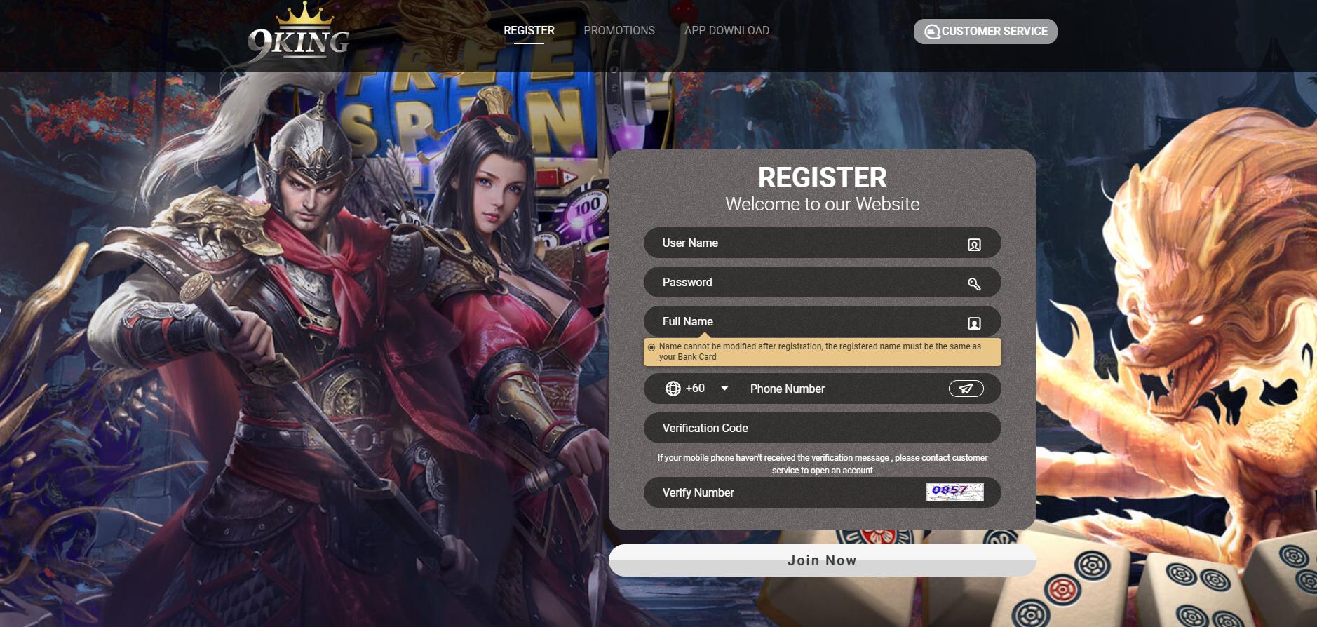 9KING Malaysia No.1 Online Casino App Live,Slots,Sports