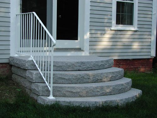 In Terms Of Environmental Impact Precast Steps Are Greener Than   Premade Steps For Outside   Handrail   Wood   Stair Railing   Deck   Wooden