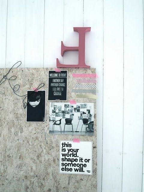 une planche en lamell pour faire un moodboard. Black Bedroom Furniture Sets. Home Design Ideas