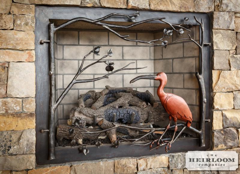 Custom Fireplace Screen W Flamingo The Heirloom Companies