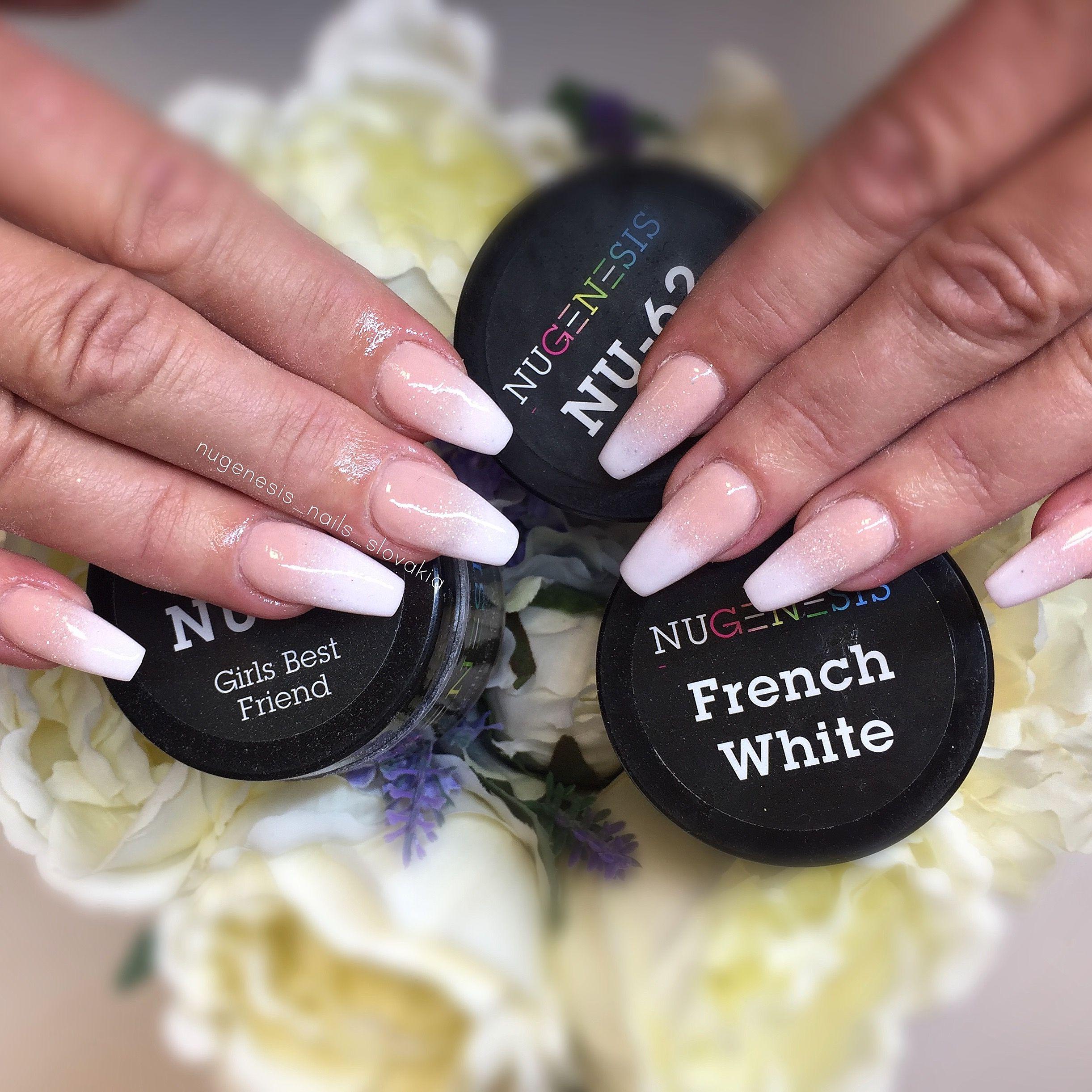 Nugenesis Dip Powder Wedding Nails Dip Powder Nails Powder Nails Makeup Nails Designs