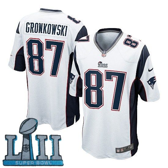 purchase cheap d5bcc 41084 Youth Nike New England Patriots #87 Rob Gronkowski White ...