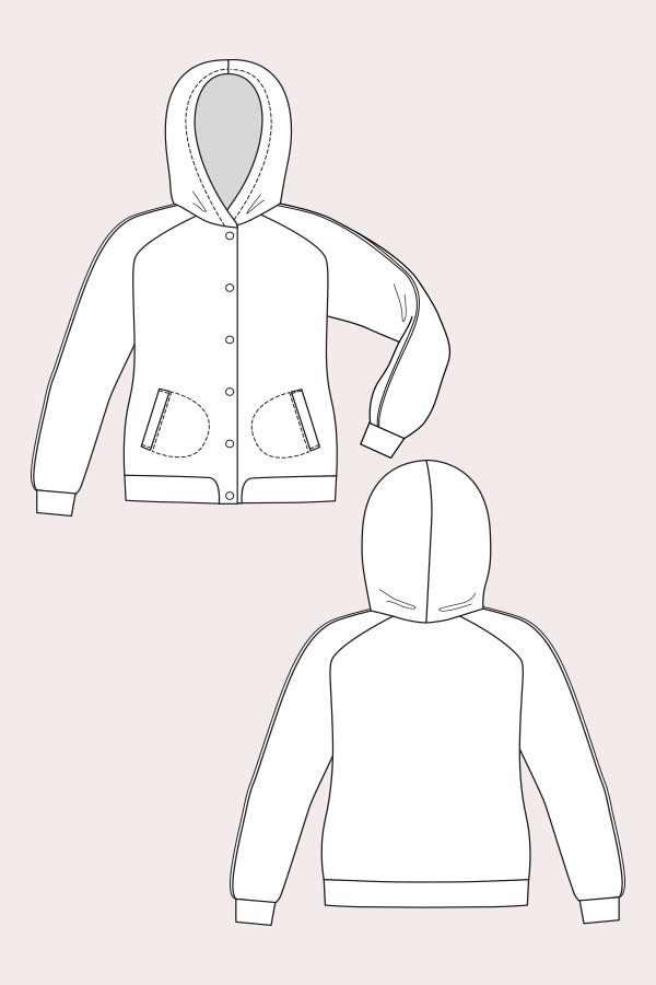 Augusta Hoodie Flats Drawing Pinterest Sewing Patterns Sewing