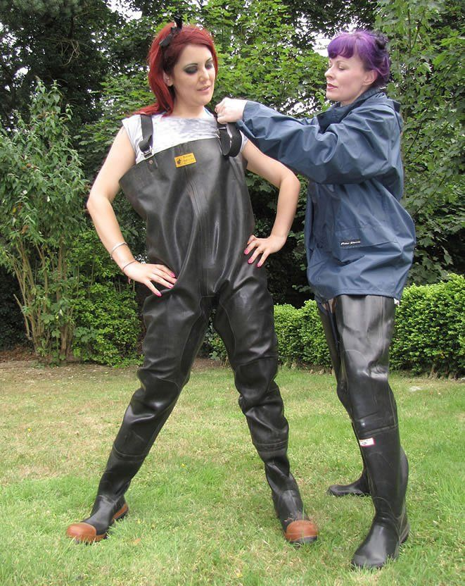 Pin by eric on boots en waders pinterest latex rain for Women s fishing waders