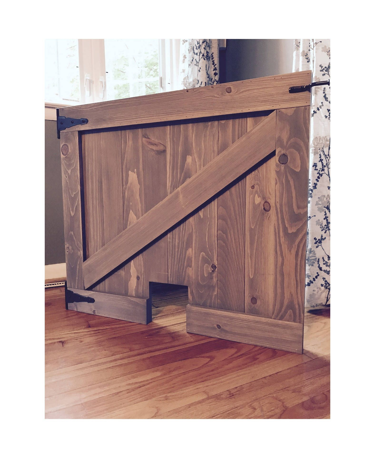Pet Security Gate Barn Door Baby Gate Custom Dog Gate Etsy Barn Door Baby Gate Baby Gates Wooden Baby Gates