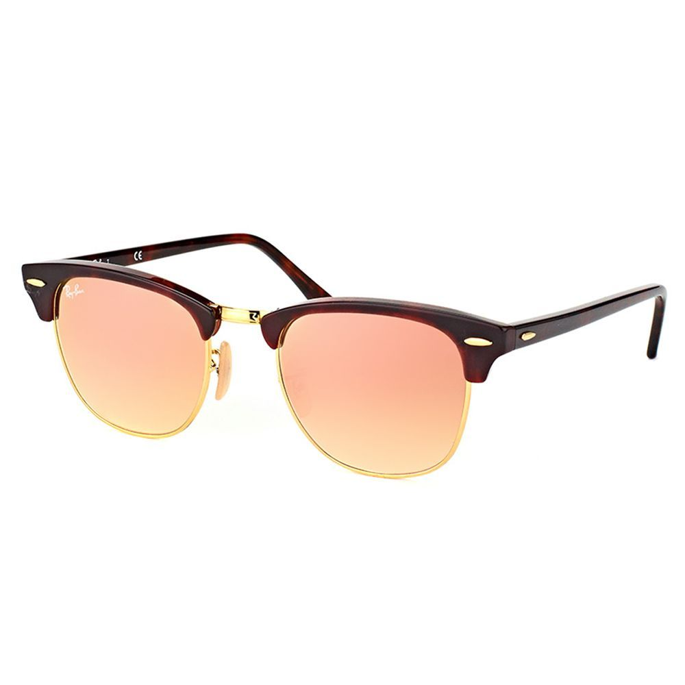 ray ban clubmaster lenses 890g  Ray-Ban Clubmaster Red Havana Sunglasses with Pink Flash Gradient Lens