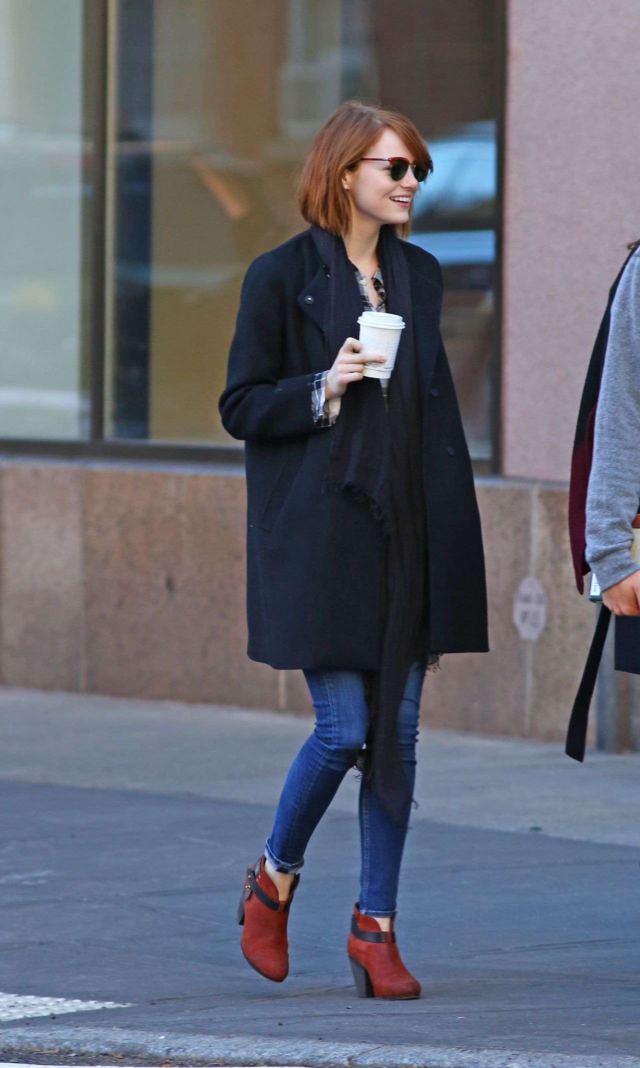 Emma Stone Couleur De Cheveux Emma Stone New York City 2014 Casual Celebs Fall