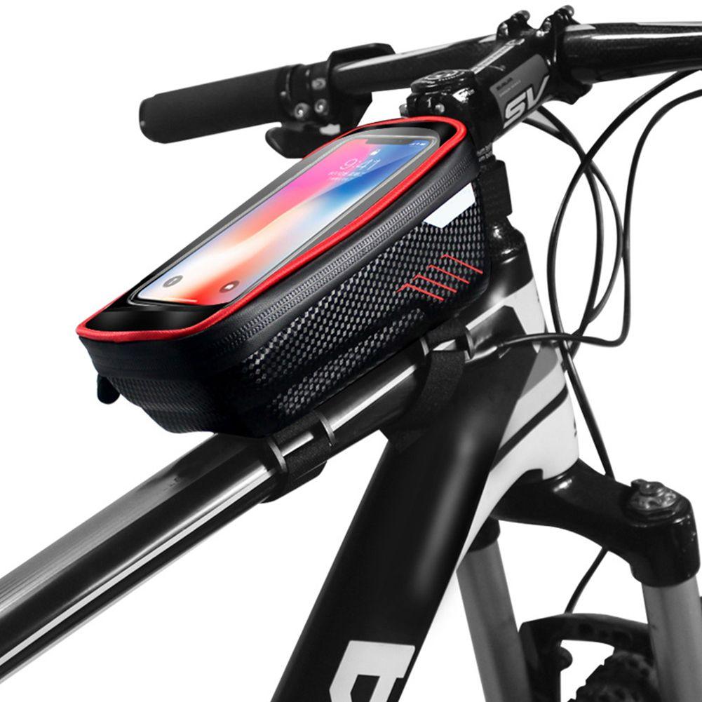 Outdoor Bicycle Motorcycle Waterproof Phone Holder Case Bag Bike Storage Bag Bike Frame Bag Bike Bag