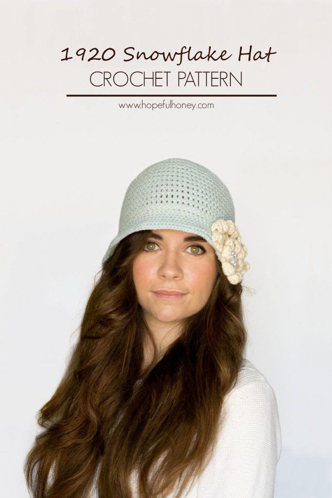 1920s Snowflake Cloche Hat Crochet Pattern Cloche Hats Hat