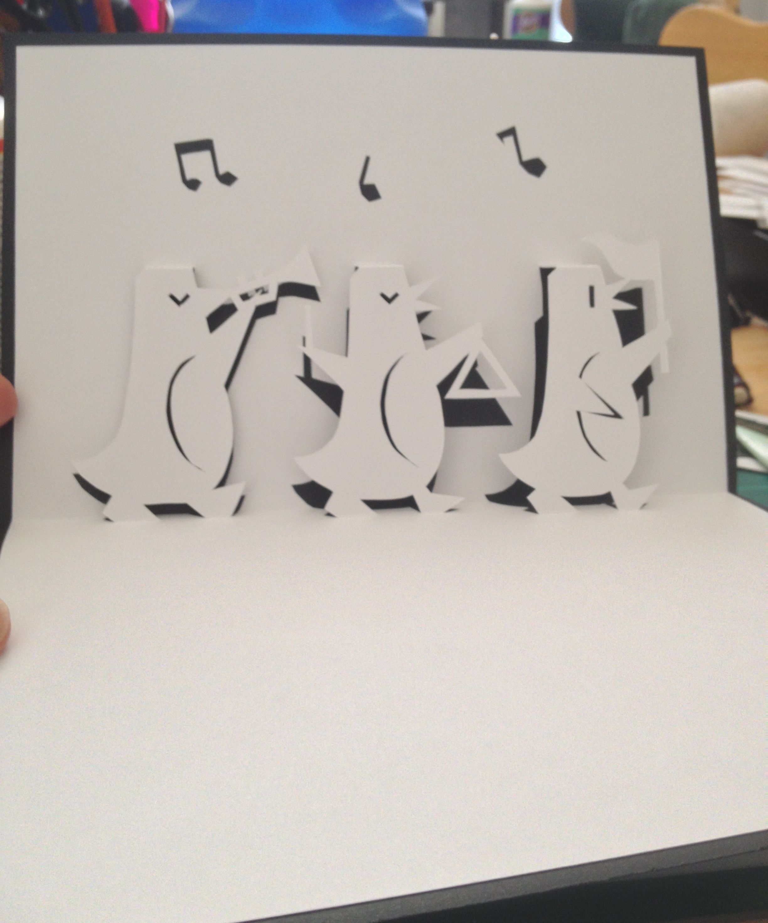 3 Penguins pop-up card (Template from Handmade Papercraft club at ...